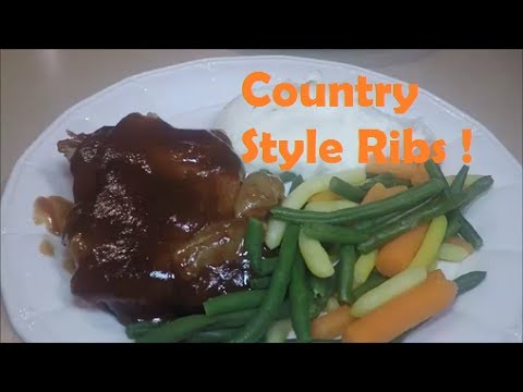 Country Style Pork Ribs in Cosori Crock Pot Slow Cooker