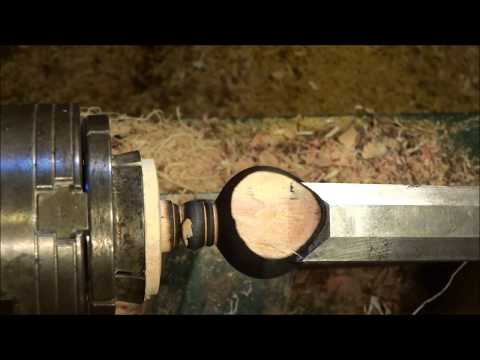 Turning a Curtain Rod Finial