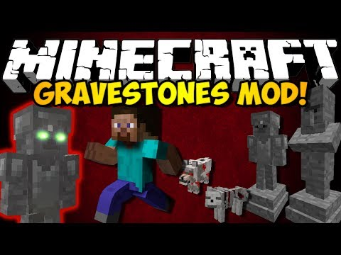 Minecraft Gravestones Mod: WITHER CATACOMBS, CREEPY MOBS, GRAVE LOOT, & MORE! (HD)