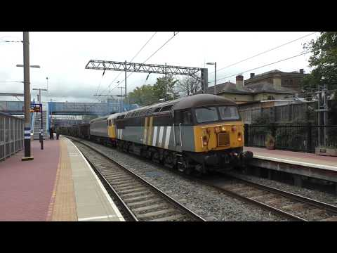 (HD) Double header Class 56 thrash & 67010 dragging a failed 225 set - 9/10/17.