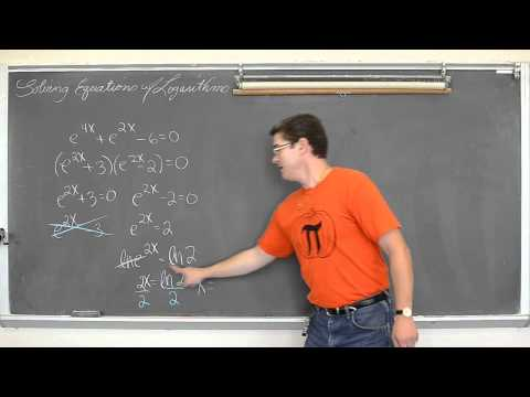 Solving Equations with Logarithms Pt 2