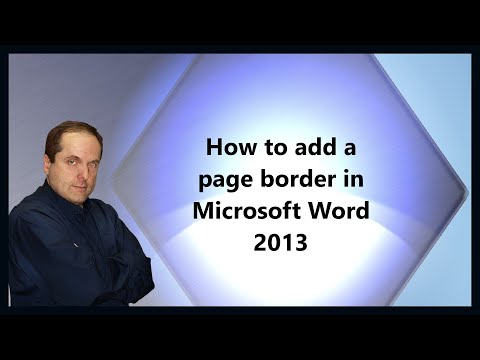 How to add a page border in Microsoft Word 2013