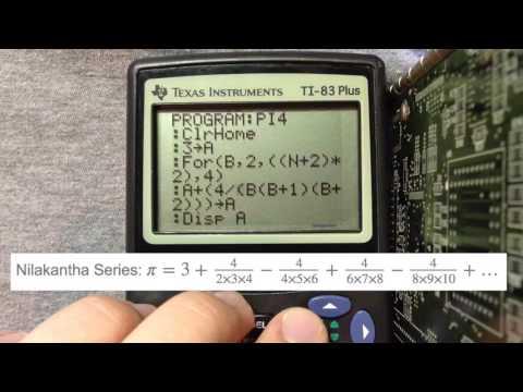 Calculating Pi on the TI-83 plus
