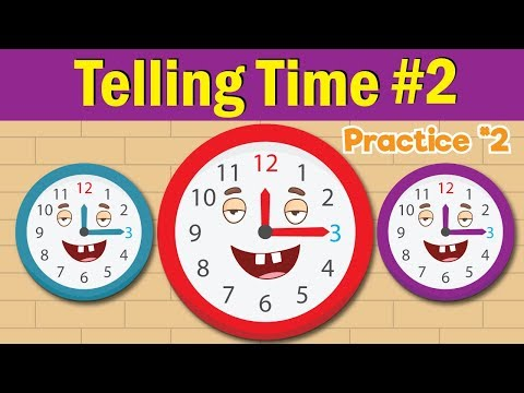 Learn to Tell Time #2 | Telling the Time Practice for Children | What's the Time? | Fun Kids English