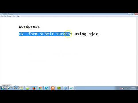 How to Insert data using Ajax jQuery in wordpress