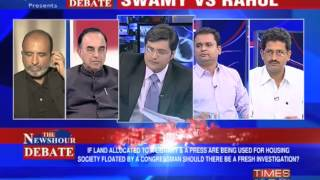 The Newshour Debate: Swamy vs Rahul - Part 1 of 2