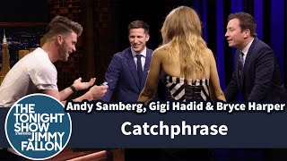 Catchphrase with Andy Samberg, Gigi Hadid and Bryce Harper