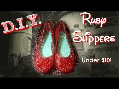 QUICK, EASY, AND CHEAP DIY Ruby Slippers!