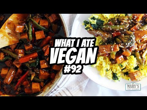 cream of chickpea + low fat kung pao tofu // what i ate wednesday #92 | Mary's Test Kitchen