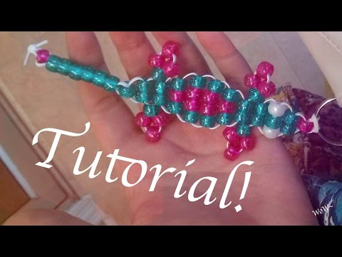 Beaded Gecko Keychain DIY