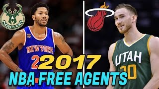 10 NBA Free Agents Who MIGHT Switch NBA TEAMS this SUMMER! 2017 NBA Free Agents
