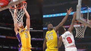 Lonzo Ball Alley Oop! Lakers Comeback Down 19 vs Bulls! 2017-18 Season