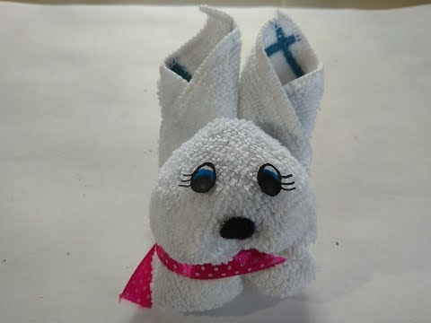 DIY 2 Minute Rabbit // How to Make Rabbit by Towel // How to Make Soft Rabbit // No Sew Soft Toy