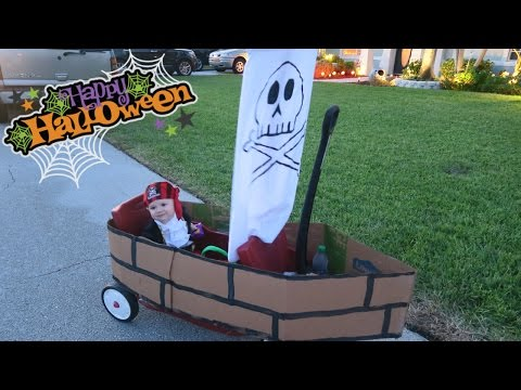 Baby Pirate Ship! Awesome DIY Halloween Costume!