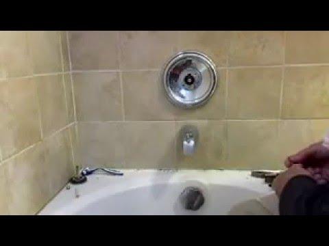 Moen single handle tub showeer faucet handle repair