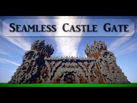 Seamless castle gate: Castle included! | Showcase | Minecraft | +Uma