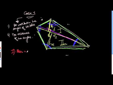 How To Find Out The Area Of Any Quadrilateral - Case 1