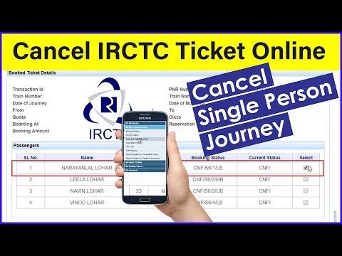 How to Cancel IRCTC Tickets | Cancel Single Person Railway Ticket | Cancel My Railway Ticket | IRCTC