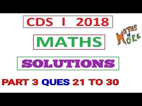 CDS 1 2018 Maths Full Solution Part 3