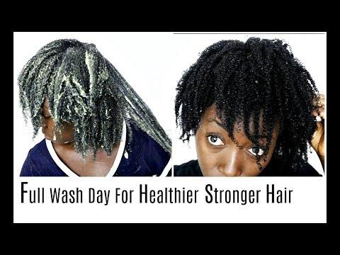 Natural Hair Wash Day Healthy Hair Routine Hot Oil Treatment Shampoo Deep Condition & Moisturising