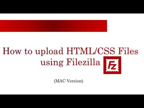 How to use Filezilla FTP Client (Mac)