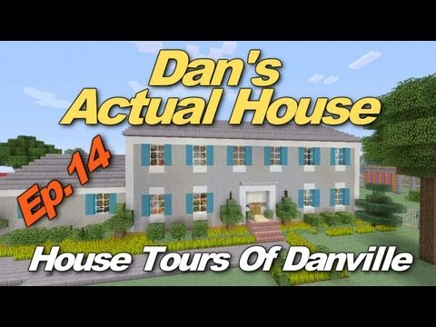 Minecraft Xbox 360: Dan's Actual House! (House Tours of Danville Episode 14)