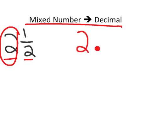 Mixed Number to Decimal Conversion TEK 6.1B