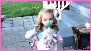 Toddler's Adorable First Day of School!!