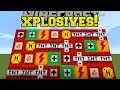 Minecraft: XPLOSIVES!!! (NEW TNT EXPLOSIVES, DYNAMITE, & HAND CANNON!) Mod Showcase