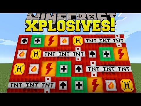 Minecraft: XPLOSIVES!!! (NEW TNT EXPLOSIVES, DYNAMITE, & HAND CANNON!) Mod Showcase