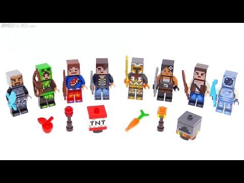 LEGO Minecraft Skin Packs 1 & 2 reviewed!