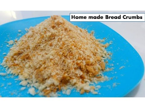 Home Made Bread Crumbs | To make crispy evening snacks |