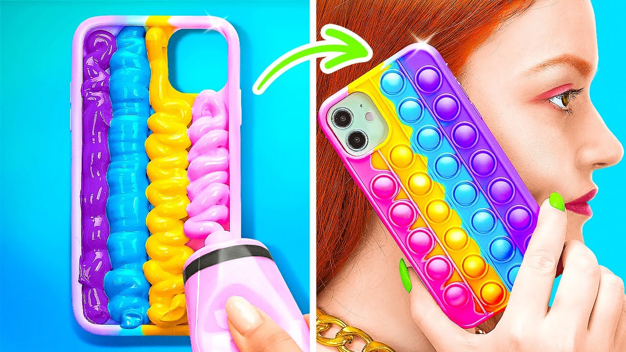 AWESOME DIY SQUISHY IDEAS THAT EASY TO MAKE || Phone Case Ideas by 123 GO! SCHOOL