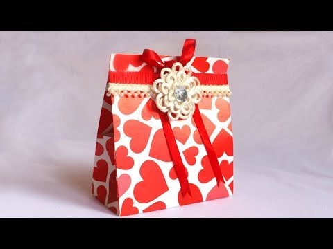 DIY Paper Gift Box for Valentine's Day | Origami Gift Box | No cutting