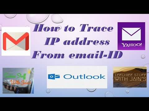 how to find IP address from email id