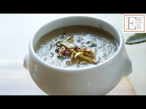 Beth's Cream of Mushroom Soup with Crispy Leeks | ENTERTAINING WITH BETH