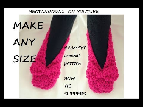 BOW TIE CROCHET SLIPPERS, and how to keep straight edges in crochet