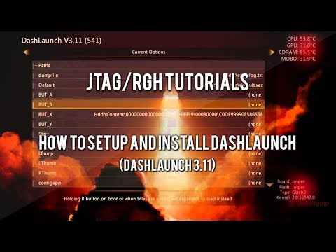 JTAG/RGH Tutorials - How to Install and Setup Dashlaunch (USB + Download)