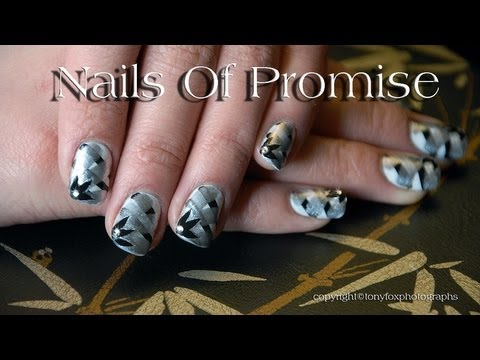 Silver Promise Live Nail Art Tutorial. Nails Of Promise.