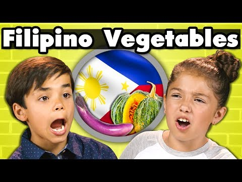KIDS EAT FILIPINO VEGETABLES! | Kids Vs. Food