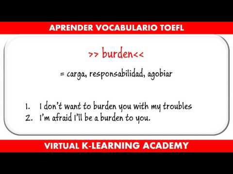 Preparación TOEFL #2  - Aprender vocabulario en Inglés Avanzado