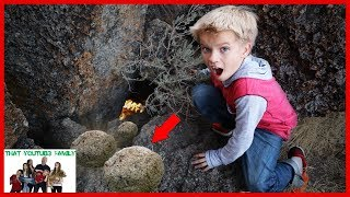 Searching For Mysterious Dragon Eggs In Secret Hidden Dragon Cave Adventure / That YouTub3 Family