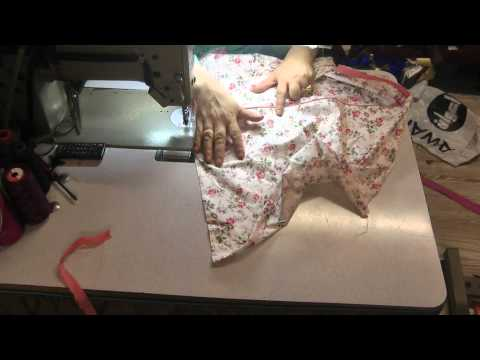 making a piped pillow case.