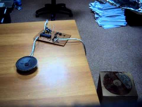 homemade Metal Detector - desined by me - microcontroller pules inductor