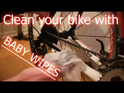 Clean your bike with BABY WIPES?!