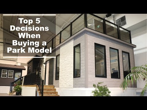 Top 5 Decisions to make when moving into a Park Model or RV.