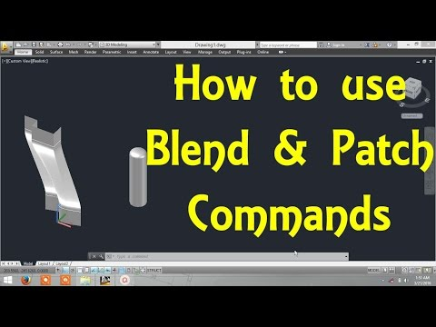 How to use Blend and patch commands in AutoCAD By Engineer AutoCAD Tutorials