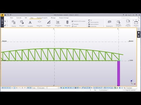 How to create a curved truss in Tekla Structures