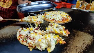 Cheesiest Pizza Uttapam | Pizza without Maida | Indian Street Food