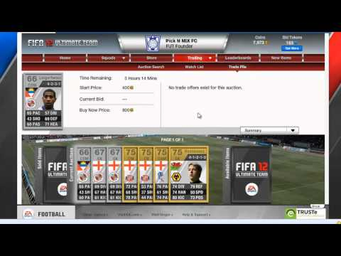 FIFA 12 Ultimate Team - Money Making Tip & My Squads So Far